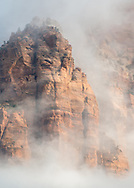 As the clouds broke, the sun lit this rock formation and created this little vignette of Zion. In my mind, this is the Mountain of Flower and Fruits where the Monkey King was born according to the legend.