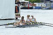 Henley, GREAT BRITAIN. Junior Women's Quadruple Sculls, Henley RC. winning the final at 2012 Henley Royal Regatta.  ..Sunday  12:28:13  01/07/2012. [Mandatory Credit, Peter Spurrier/Intersport-images]...Rowing Courses, Henley Reach, Henley, ENGLAND . HRR.