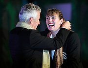 Silver Fern Irene van Dyk is the 2010 Commonwealth Games flag bearer. Flag bearer announcement and Team Function.. XIX Commonwealth Games, New Delhi, India. Saturday 2nd September 2010 September 2010. Photo: Simon Watts / photosport.co.nz