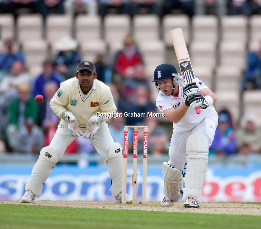 Ian Bell bats during the third npower Test Match between England and Sri Lanka at the Rose Bowl, Southampton.  Photo: Graham Morris (Tel: +44(0)20 8969 4192 Email: sales@cricketpix.com) 19/06/11