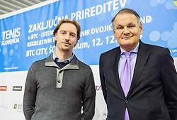 Miha Rakar and Marko Umberger at Istenic doubles Tournament and Slovenian Tennis personality of the year 2015 annual awards presented by Slovene Tennis Association TZS, on December 12, 2015 in Millenium Centre, BTC, Ljubljana, Slovenia. Photo by Vid Ponikvar / Sportida