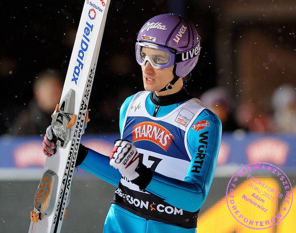 ZAKOPANE 16/01/2009.FIS WORLD CUP SKI JUMPING.MARTIN SCHMITT OF GERMANY CELEBRATES ..FOT. PIOTR HAWALEJ / WROFOTO