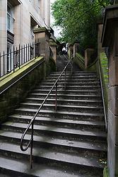 View of The News Steps in Edinburgh, Scotland, UK