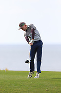 Cian O'Sullivan (Killiney) on the 18th tee during Round 2 of the Connacht U16 Boys Amateur Open Championship at Galway Bay Golf Club, Oranmore, Galway on Wednesday 17th April 2019.<br /> Picture:  Thos Caffrey / www.golffile.ie
