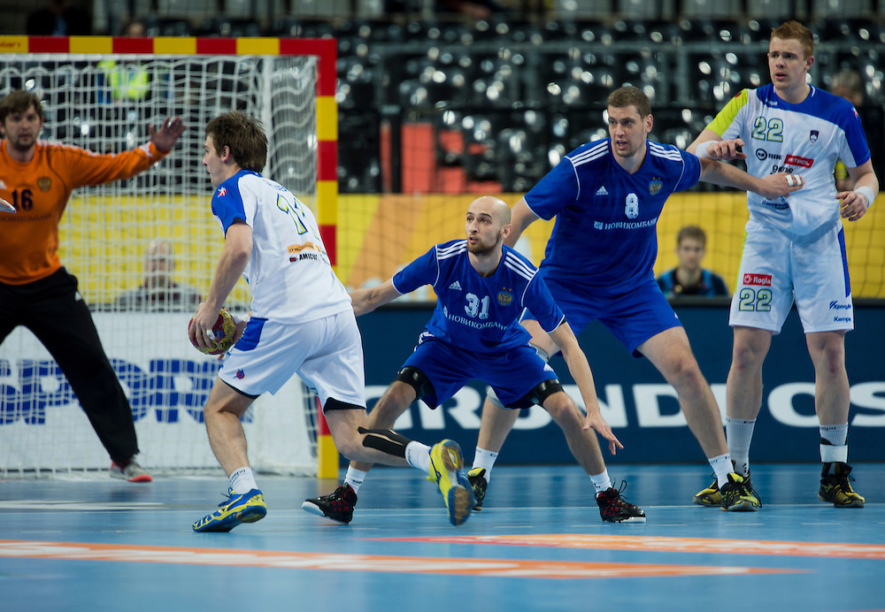 Spain - Barcelona..23/01/13.Handball World Cup quarter final:  Slovenia - Russia 28-27..Photo: Johnny Wichmann / billedbyroet