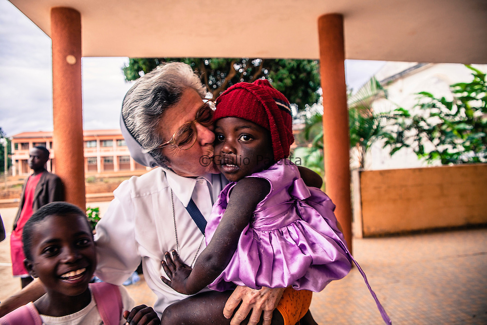 Sister Luisa back in the orphan center of Namaacha met some kids she saved from the streets