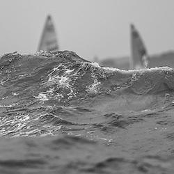 Qingdao China 17.8.2008 Rainy Medal Race, Yngling, Finn