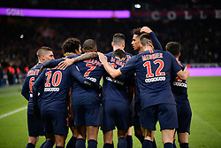 November 2, 2018 - Paris, ile de france, France - Killian Mbappe #7 and Neymar Jr #10 and the Paris Saint Germain (PSG) team celebrate the 2nd goal during the french Ligue 1 match between Paris Saint-Germain (PSG) and Lille (LOSC) at Parc des Princes stadium on November 2, 2018 in Paris, France. (Credit Image: © Julien Mattia/NurPhoto via ZUMA Press)