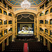 Interior of the Manoel Theatre in Valletta.
