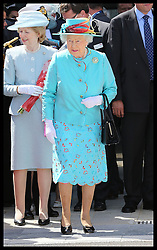 Image licensed to i-Images Picture Agency. 17/07/2014. Reading, United Kingdom. The Queen after opening Reading Railway Station in Berkshire, United Kingdom, to mark a £895 million (pounds sterling)  re-development of the station.  Picture by Stephen Lock / i-Images