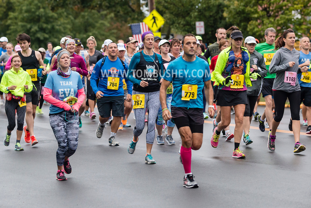 Goshen, New York - Runners in the Hambleonian Marathon on Oct. 2, 2016.