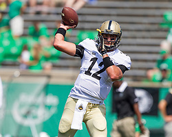 Sep 6, 2015; Huntington, WV, USA; Purdue Boilermakers quarterback Austin Appleby warms up before their game against the Marshall Thundering Herd at Joan C. Edwards Stadium. Mandatory Credit: Ben Queen-USA TODAY Sports