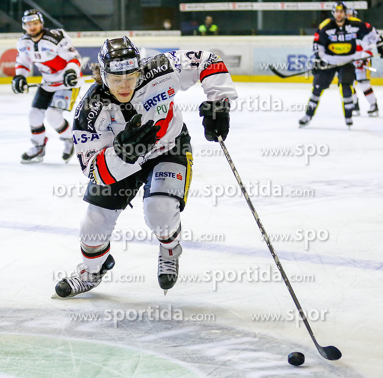 06.01.2015, Messestadion, Dornbirn, AUT, EBEL, Dornbirner EC vs HC Orli Znojmo, 36. Runde, im Bild Radek Cip, (HC Orli Znojmo, #12) // during the Erste Bank Icehockey League 36th round match between Dornbirner EC and HC Orli Znojmo at the Messestadion in Dornbirn, Austria on 2015/01/06, EXPA Pictures © 2015, PhotoCredit: EXPA/ Peter Rinderer
