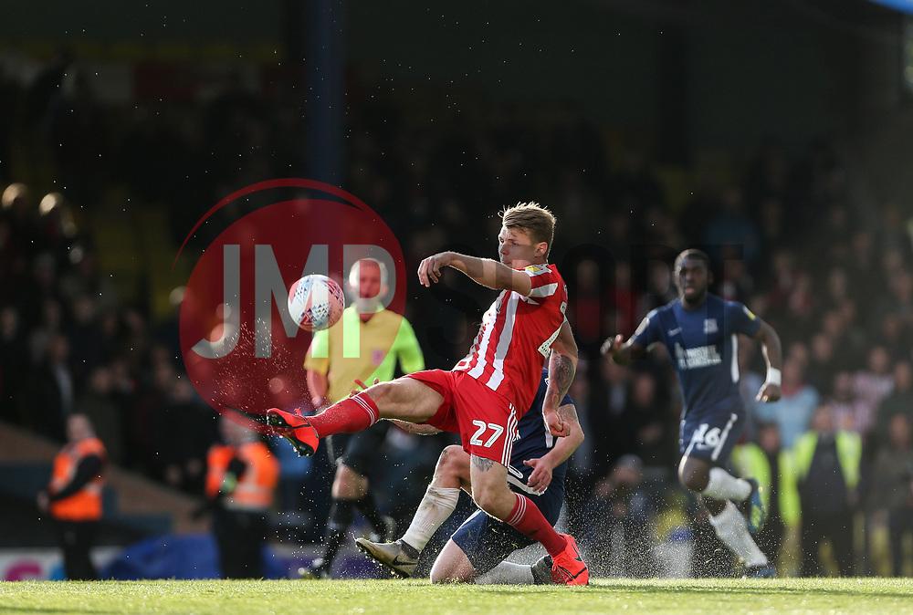 Max Power of Sunderland makes a clearance - Mandatory by-line: Arron Gent/JMP - 04/05/2019 - FOOTBALL - Roots Hall - Southend-on-Sea, England - Southend United v Sunderland - Sky Bet League One