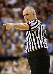 March 27, 2010; Sacramento, CA, USA; NCAA referee Gator Parrish during the second half of the game between the Stanford Cardinal and the Georgia Bulldogs in the semifinals of the Sacramental regional in the 2010 NCAA womens basketball tournament at ARCO Arena.  Stanford defeated Georgia 73-36.