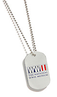 The National World War II Museum dog tag on white background