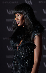 The Glamour of Italian Fashion private dinner at V&A Museum. Naomi Campbell arrives to the V&A Museum tonight. Museum hosts private dinner in association with the opening of its new exhibition which looks at Italian Fashion from the end of the Second World War to the present day. Victoria & Albert Museum, London, United Kingdom. Tuesday, 1st April 2014. Picture by Daniel Leal-Olivas / i-Images