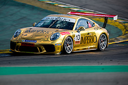 July 27, 2018 - Sao Paulo, Sao Paulo, Brazil - Car #13 in action during the free practice session for the 5th stage of the 2018 Brazilian Porsche GT3 Cup championship, which takes place on Saturday, 28 at Interlagos circuit in Sao Paulo, Brazil. (Credit Image: © Paulo Lopes via ZUMA Wire)
