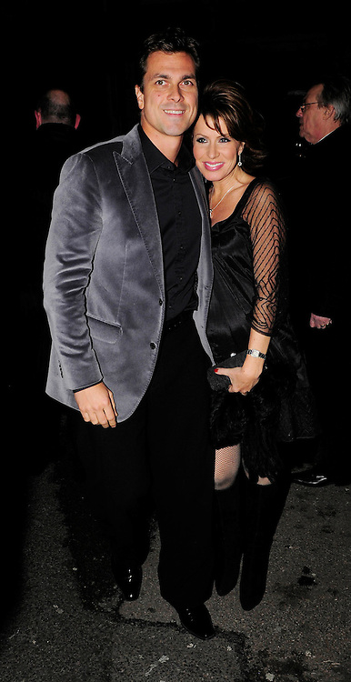 03.DECEMBER.2009 - LONDON<br /> HOLLYOAKS ACTOR KEVIN SACRE AND CAMILLA DALLERUP FROM STRICTLY COME DANCING LEAVING THE AFTERPARTY AT CLARIDGES HOTEL AFTER THE PREMIERE OF NEW FILM NINE.<br /> <br /> BYLINE: EDBIMAGEARCHIVE.COM<br /> <br /> *THIS IMAGE IS STRICTLY FOR UK NEWSPAPERS AND MAGAZINES ONLY FOR WORLD WIDE SALES AND WEB USE PLEASE CONTACT EDBIMAGEARCHIVE - 0208 954 5968