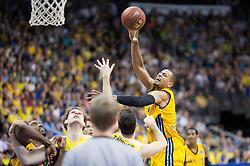 Berlin, Germany, 15.05.2015:<br />Basketball Bundesliga Playoffs Viertelfinale 3. Spiel 2014 / 2015 - ALBA Berlin - EWE Baskets Oldenburg.<br /><br />Alex King (Alba #7) *** Local Caption *** © pixathlon