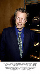 MR TOM PARKER BOWLES son of Camilla Parker Bowles, at a party in London on 23rd January 2001.OKP 8