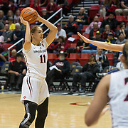 09 December 2016: The San Diego State Aztecs women's basketball team plays host to Michigan Friday afternoon at Viejas Arena.   www.sdsuaztecphotos.com