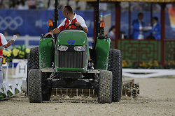 Course builder<br /> Olympic Games Hong Kong 2008<br /> Photo © Dirk Caremans - Hippo Foto`