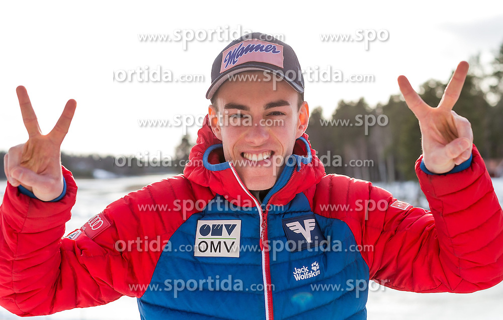 20.02.2015, Främby Udde Resort, Falun, SWE, FIS Weltmeisterschaften Ski Nordisch, Skisprung, Herren, Pressekonferenz, im Bild Stefan Kraft (AUT) // during the Austrias Mens Skijumping Pressconference of the FIS Nordic Ski World Championships 2015 at the Fraemby Udde Resort, Falun, Sweden on 2015/02/20. EXPA Pictures © 2015, PhotoCredit: EXPA/ JFK