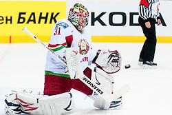 Andrei Mezin of Belarus during ice-hockey match between Slovenia and Belarus of Group G in Relegation Round of IIHF 2011 World Championship Slovakia, on May 8, 2011 in Orange Arena, Bratislava, Slovakia. (Photo by Matic Klansek Velej / Sportida)