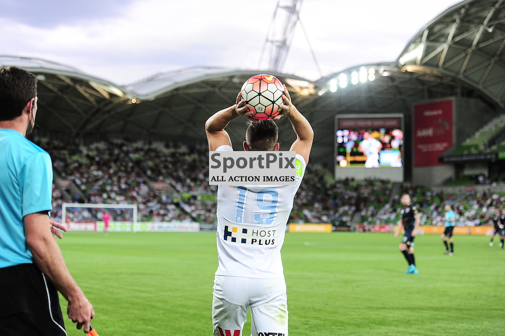 Ben Garuccio of Melbourne City - Hyundai A-League,  25th October 2015, RD 3, Melbourne City FC v Central Coast Mariners with a win to City 3:1 © Mark Avellino | SportPix.org.uk