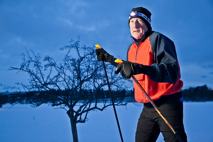 2.20.2012  Attorney, Alex Bryner, cross country skiing near Westchester Lagoon, Anchorage