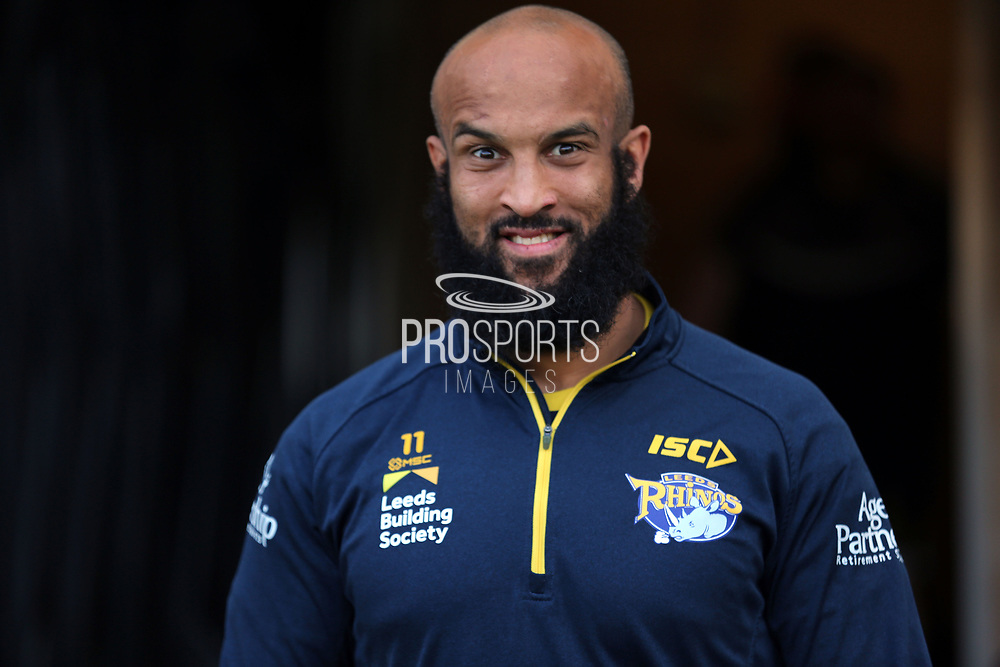 Leeds Rhinos second row forward Jamie Jones Buchanan (11) prior to  the Betfred Super League match between Hull FC and Leeds Rhinos at Kingston Communications Stadium, Hull, United Kingdom on 19 April 2018. Picture by Mick Atkins.