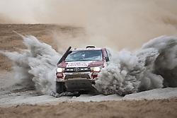 BEIJING, Jan. 12, 2019  Peruvian driver Luis Alayza and co-driver Ive Bromberg compete during the 4th stage of the 2019 Dakar Rally Race, near La Joya, Arequipa province, Peru, on Jan. 10, 2019. (Credit Image: © Xinhua via ZUMA Wire)
