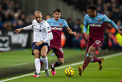 LONDON, ENGLAND - Wednesday, January 29, 2020: Liverpool's Fabio Henrique Tavares 'Fabinho' during the FA Premier League match between West Ham United FC and Liverpool FC at the London Stadium. (Pic by David Rawcliffe/Propaganda)