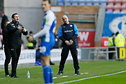 Wigan Athletic Manager Paul Cook  during the EFL Sky Bet Championship match between Wigan Athletic and Derby County at the DW Stadium, Wigan, England on 8 December 2018.