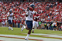PALO ALTO, CA - OCTOBER 06: Running back Ka'Deem Carey #25 of the Arizona Wildcats scores a touchdown against the Stanford Cardinal during the second quarter at Stanford Stadium on October 6, 2012 in Palo Alto, California. The Stanford Cardinal defeated the Arizona Wildcats 54-48 in overtime. (Photo by Jason O. Watson/Getty Images) *** Local Caption *** Ka'Deem Carey