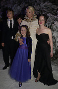 "William Moseley; Georgie Henley; Tilda Swinton; Skandar Keynes below,and Anna Popplewell. Royal Film Performance and World Premiere of ""The Chronicles Of Narnia"" at the Royal Albert Hall. London and after-party in Kensington Gardens. 7 December  2005.ONE TIME USE ONLY - DO NOT ARCHIVE  © Copyright Photograph by Dafydd Jones 66 Stockwell Park Rd. London SW9 0DA Tel 020 7733 0108 www.dafjones.com"