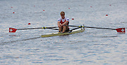 Amsterdam. NETHERLANDS. SUI M1X. Barnabe DELARZE, De Bosbaan Rowing Course, venue for the 2014 FISA  World Rowing. Championships. 10:48:34  Sunday  31/08/2014.  [Mandatory Credit; Peter Spurrier/Intersport-images]