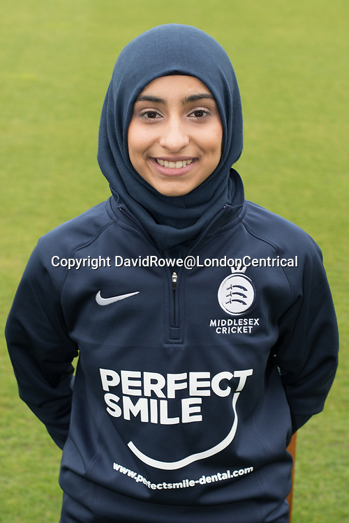 11 April 2018, London, UK.  Hussain of Middlesex County Cricket Club womens team. David Rowe/ Alamy Live News