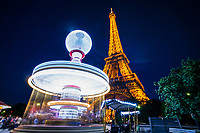 Carousel & Eiffel Tower @ Night