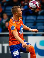 1. divisjon fotball 2018: Aalesund - Åsane (1-0). Aalesunds Holmbert Fridjonsson i kampen i 1. divisjon i fotball mellom Aalesund og Åsane på Color Line Stadion.