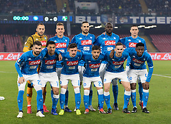 January 13, 2019 - Naples, Campania, Italy - Napoli Team line-ups during the Serie A football match between SSC Napoli vs US Sassuolo at San Paolo Stadium. (Credit Image: © Ernesto Vicinanza/SOPA Images via ZUMA Wire)