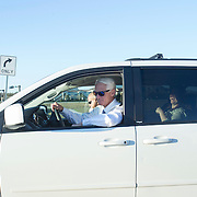 Former Governor Charlie Crist drives the Dodge Grand Caravan to the next campaign stop in Fort Myers, Fla.<br /> <br /> Profile of the former governor Charlie Crist on the campaign trail running for governor in Florida.