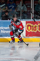 KELOWNA, CANADA - MARCH 18: Dillon Dube #19 of Kelowna Rockets skates against the Seattle Thunderbirds on March 18, 2015 at Prospera Place in Kelowna, British Columbia, Canada.  (Photo by Marissa Baecker/Shoot the Breeze)  *** Local Caption *** Dillon Dube;