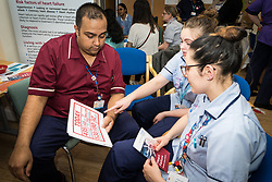 The Princess Alexandra Hospital, Harlow, Nursing & Midwifery Celebration Day - training and information, UK. Heart disease information