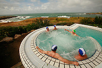 water therapy at the Sofitel Thelassotherapy center in Quiberon..the outdoor saltwater whirlpool...photograph by Owen Franken for the NY Times..July 7, 2008..