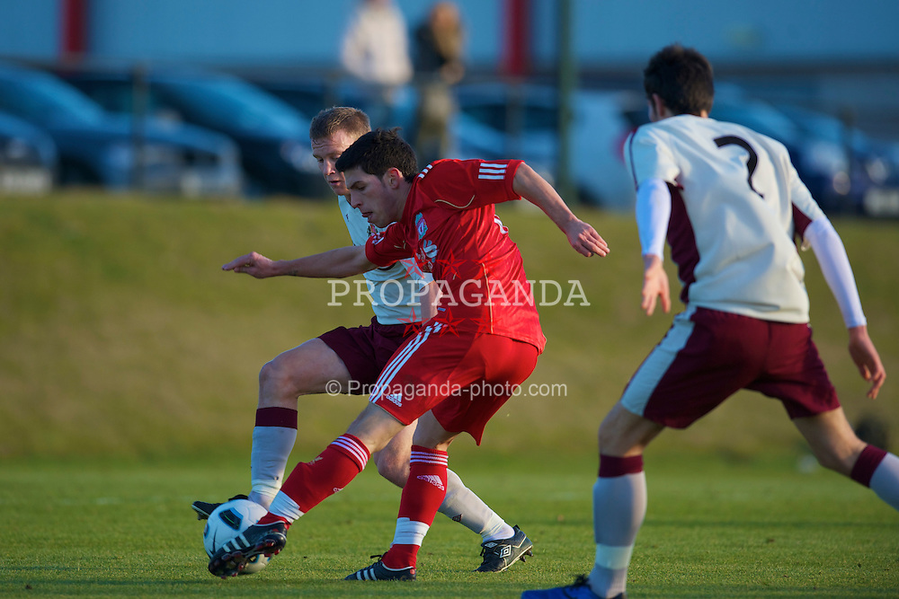 LIVERPOOL, ENGLAND - Tuesday, January 11, 2011: Liverpool's Dani Pacheco scores the opening goal against Sunderland during the FA Premiership Reserves League (Northern Division) match at the Kirkby Academy. (Pic by: David Rawcliffe/Propaganda)