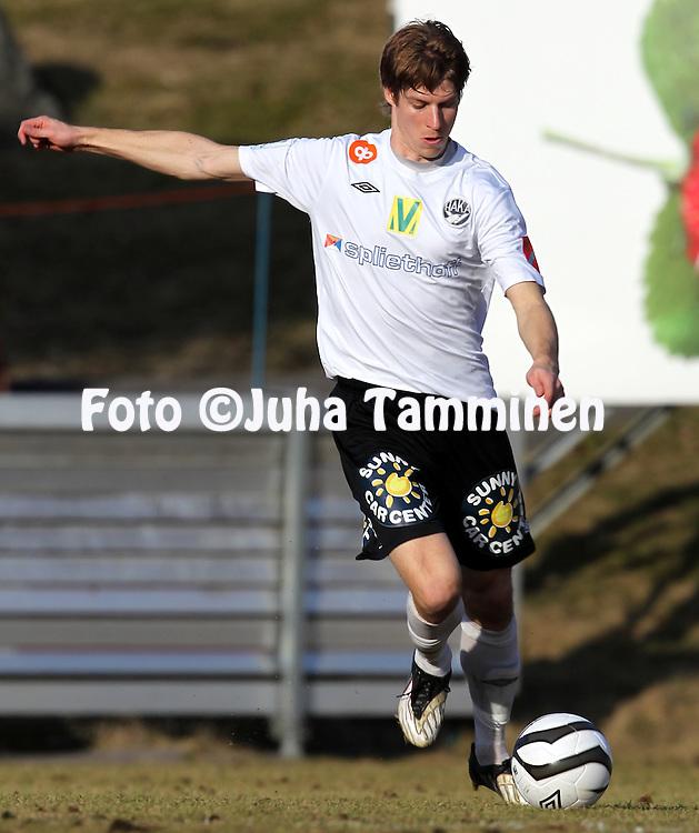 22.4.2012, Tehtaan kentt, Valkeakoski..Veikkausliiga 2012..FC Haka - IFK Mariehamn..Sami Sanevuori - Haka