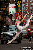 Chinatown Ballerina Leaping- Dance Art Art The New York City Photography Project Series with Xiaoxiao Cao
