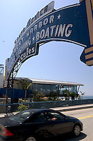 Car Driving onto Santa Monica Pier, Santa Monica, California